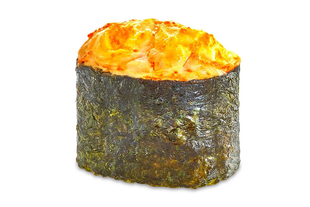Суши Запеченный лосось (1 шт) 40гр